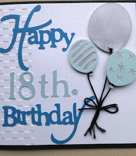 Happy 18th Birthday card fromt, designed by Grace Baxter