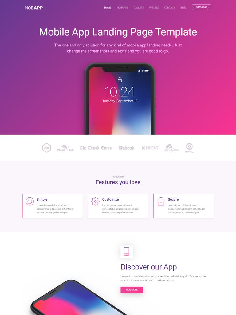 Landing Page giới thiệu ứng dụng điện thoại - Ảnh 1