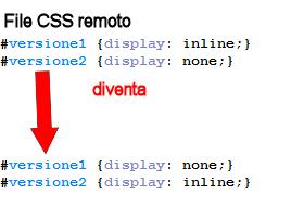 ROPEMAKER, Switch - CSS per nascondere/visualizzare una versione del testo