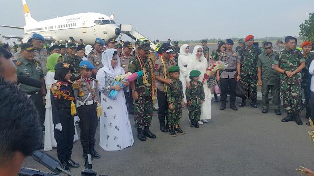 Panglima TNI dan Kapolri Tiba di Bandara Radin Inten II Lampung