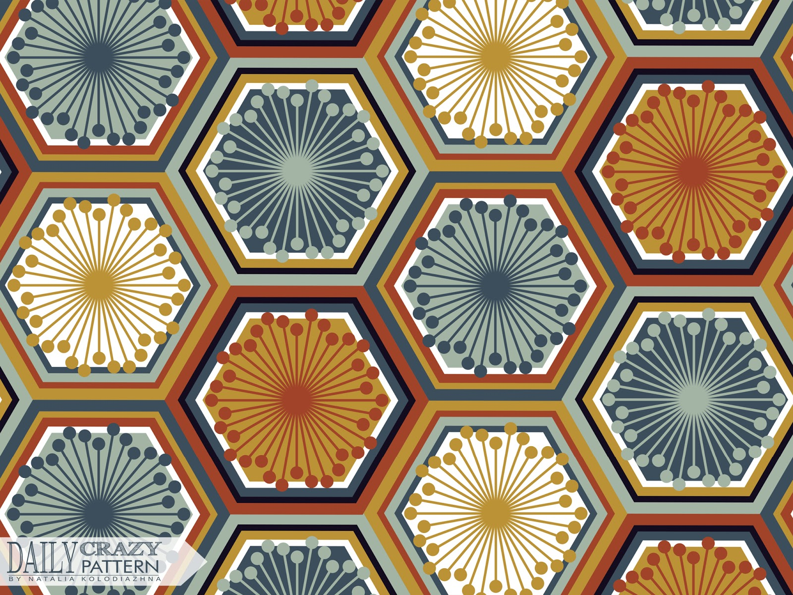 "Bright geometric pattern for ""Daily Crazy Pattern"" project"
