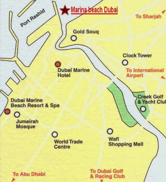 Dubai Marine Beach Resort And Spa Location Map