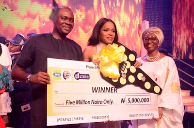Okiemute Ighoroje inducted into the MTN Project Fame West Africa's wall of fame