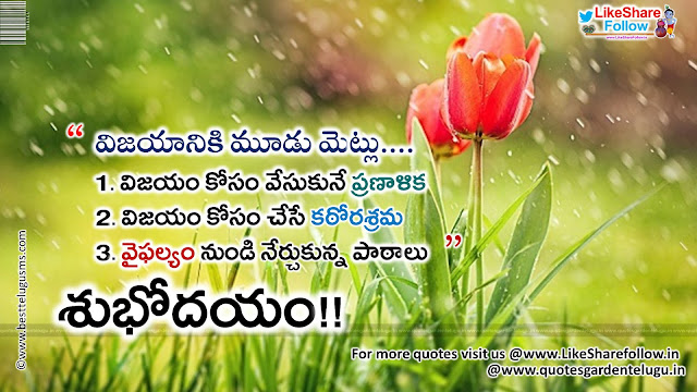 Best good morning quotes in telugu messages wallpapers