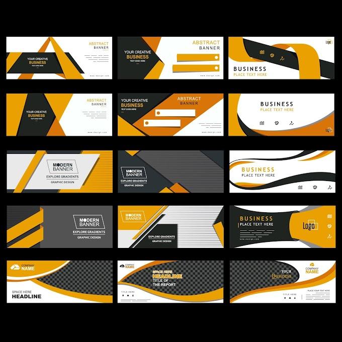 google display ads templates corporate banner templates elegant modern checkered decor free vector