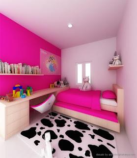 desain kamar tidur anak perempuan sapi