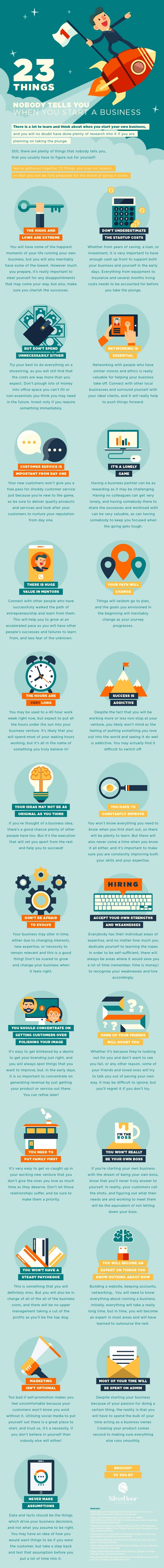 23 Things Nobody Tells You When You Start A Business - #Infographic