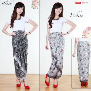 Gambar rok batik panjang modis