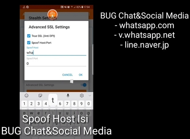 Cara Setting Anonytun Kuota Chat Telkomsel Work 2019 : Langkah Ketiga