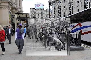 entrada de estação de metrô em Londres