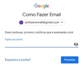 Como mudo a senha do Gmail