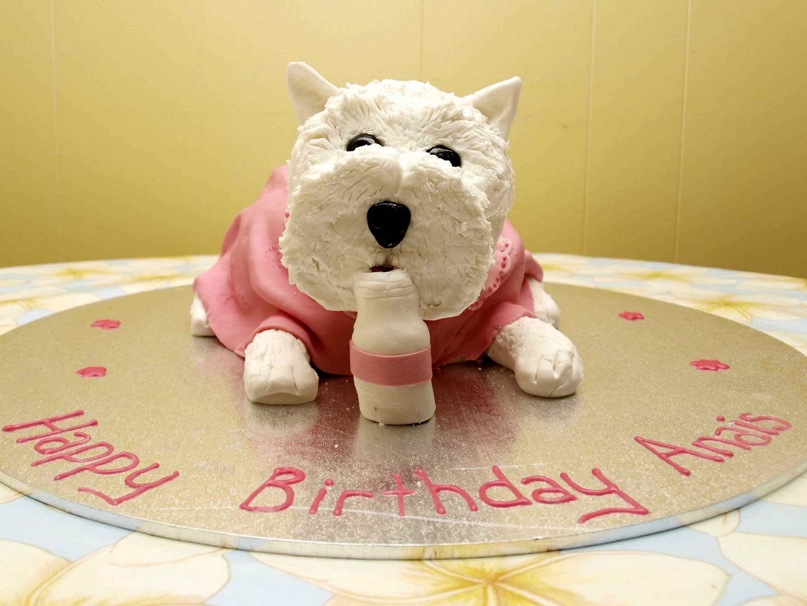 Happy Birthday Westie Cake
