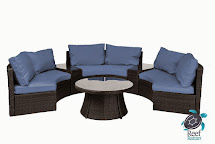 Modern Curved Sofa Outdoor Set