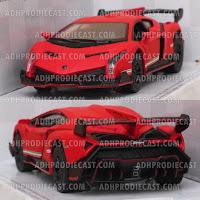 Miniatur Lamborghini Veneno (Red Matte-32K)