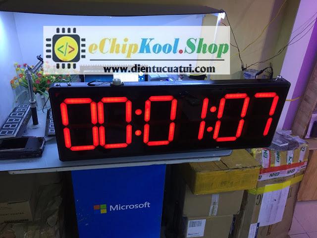Đồng hồ đếm ngược led + Bấm giây thể thao - Remote - KT 30 x 90 cm