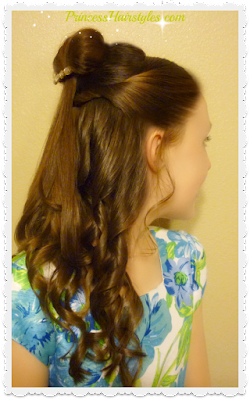 Belle Hair Tutorial, Beauty and the Beast inspired. Video instructions.