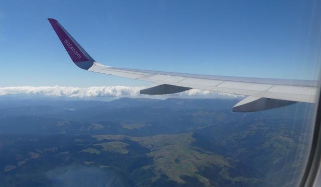 Imprssion Rückflug Sibiu - Nürnberg mit Wizzair - Rumänien von oben