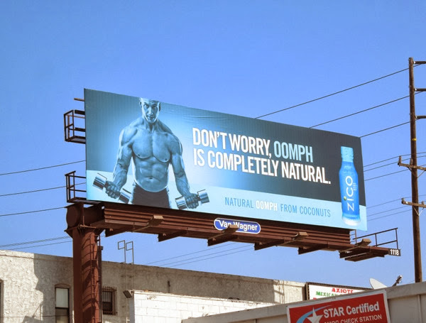 oomph is completely natural Zico coconut water billboard
