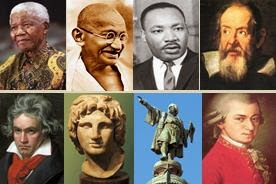 Biographies of historical figures and personalities