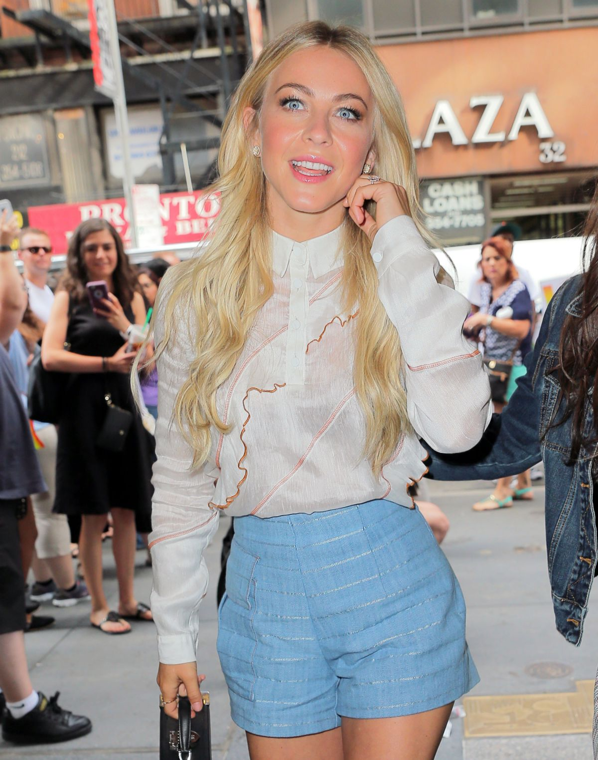 'Grease - Live' actress Julianne Hough arriving to The Today Show in NY City