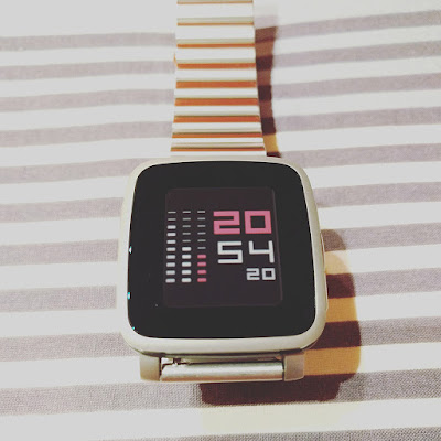 Stripemalism watch face for Pebble