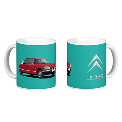 Citroen DS mug (two images)