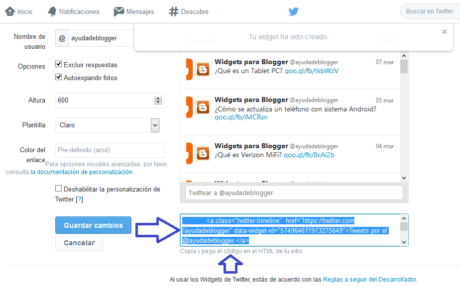Widget Social Multi Tabla 3 en 1 para páginas web