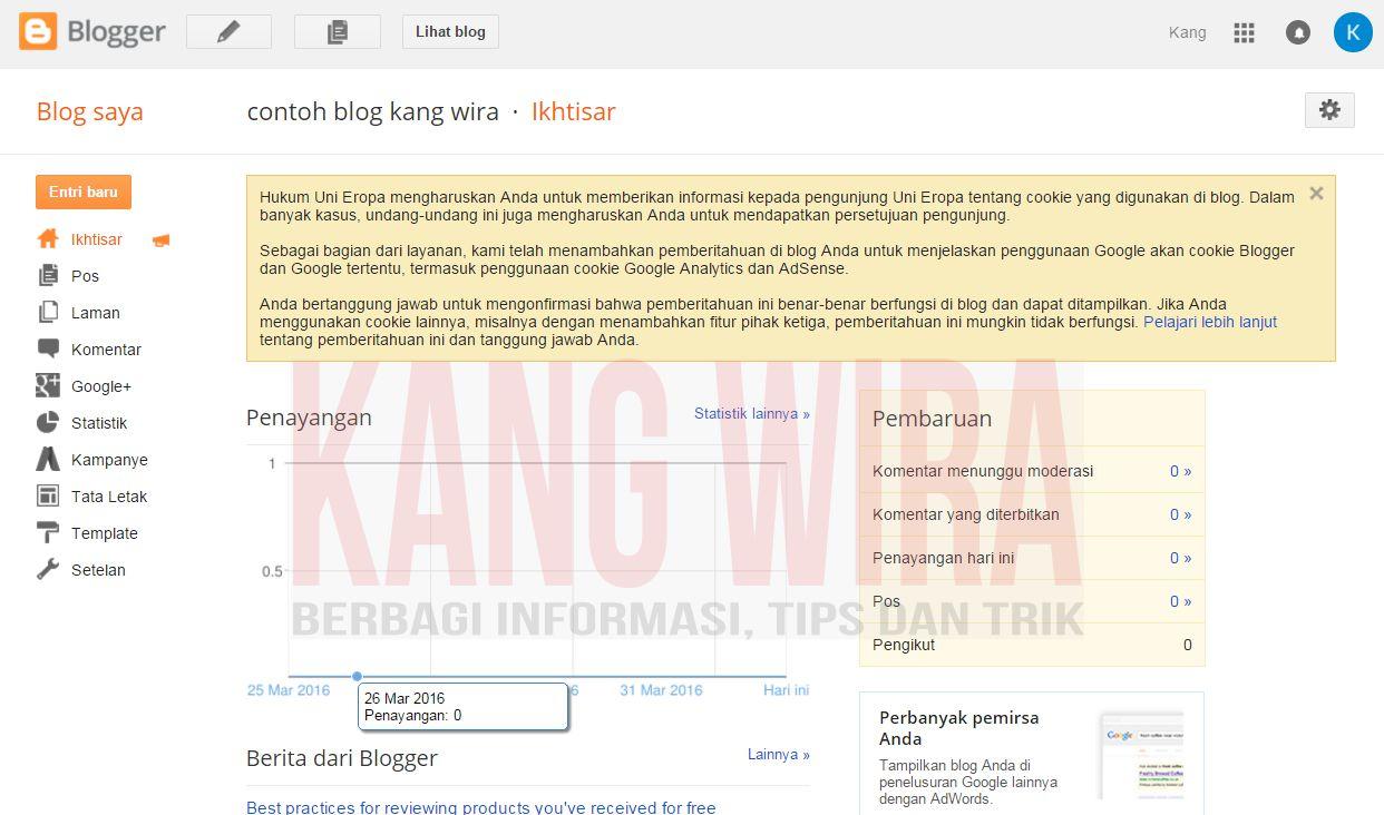 Cara Membuat Blog dari Blogger 8