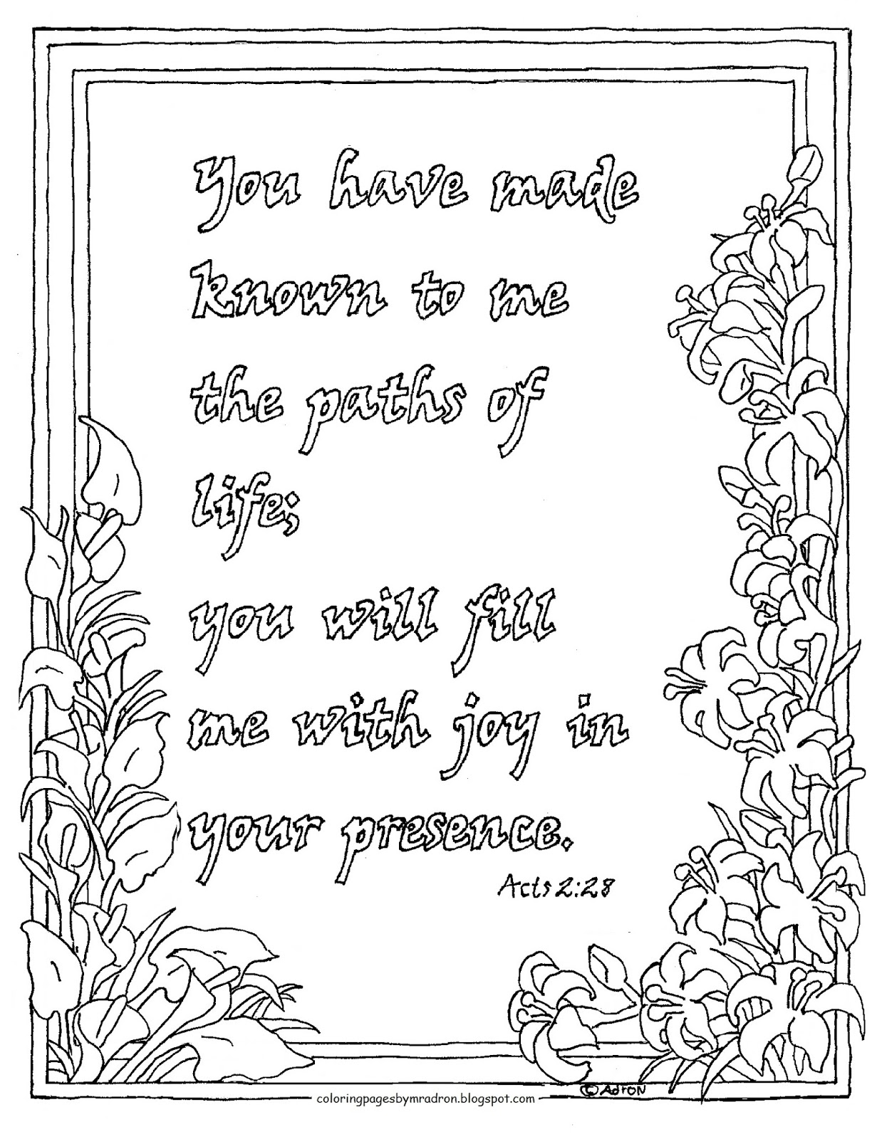 Coloring Pages For Kids By Mr Adron Printable Acts 228