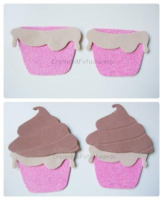El cupcake  va cogiendo forma