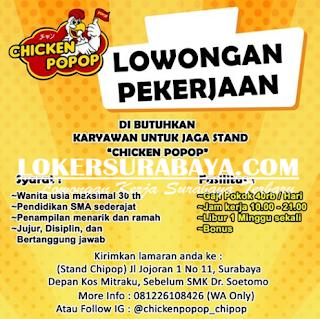 Lowongan Kerja di Chiken Popop Surabaya Terbaru Mei 2019