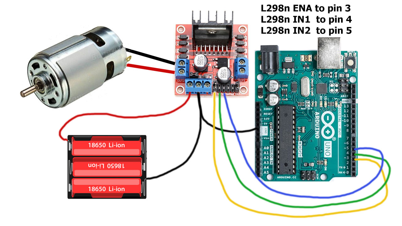 Arduino How to control speed of DC motor without potentiometers