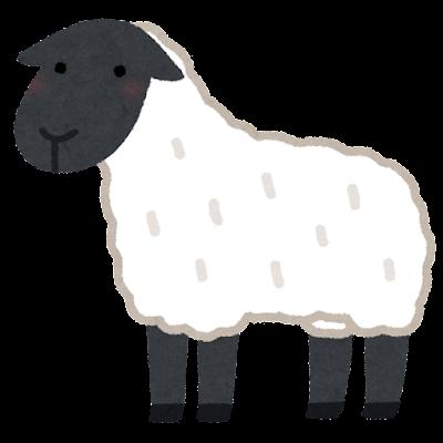サフォークのイラスト(羊)