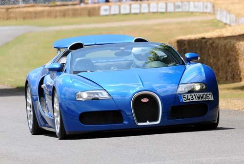 Blue Bugatti Veyron