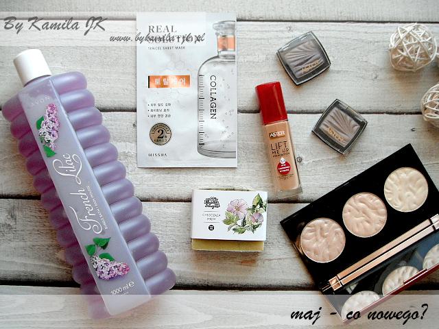 Avon French Lilac Mydło Stacja Chłodząca mięta naturalne ręcznie robione Makeup revolution Rose Lights Missha maska w płachcie kolagen Astor