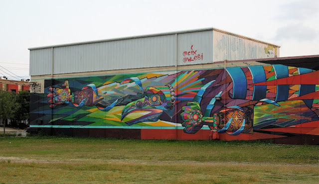 Mural on backside of TBH Building