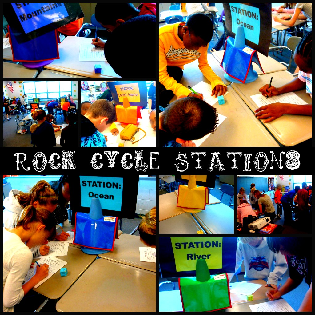 A Middle School Survival Guide Rock Cycle Stations