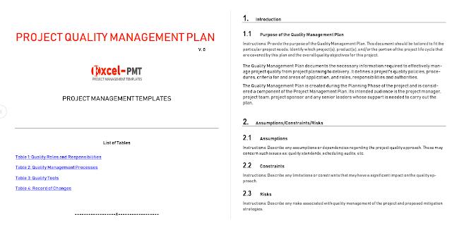Quality Management Plan Template from 2.bp.blogspot.com