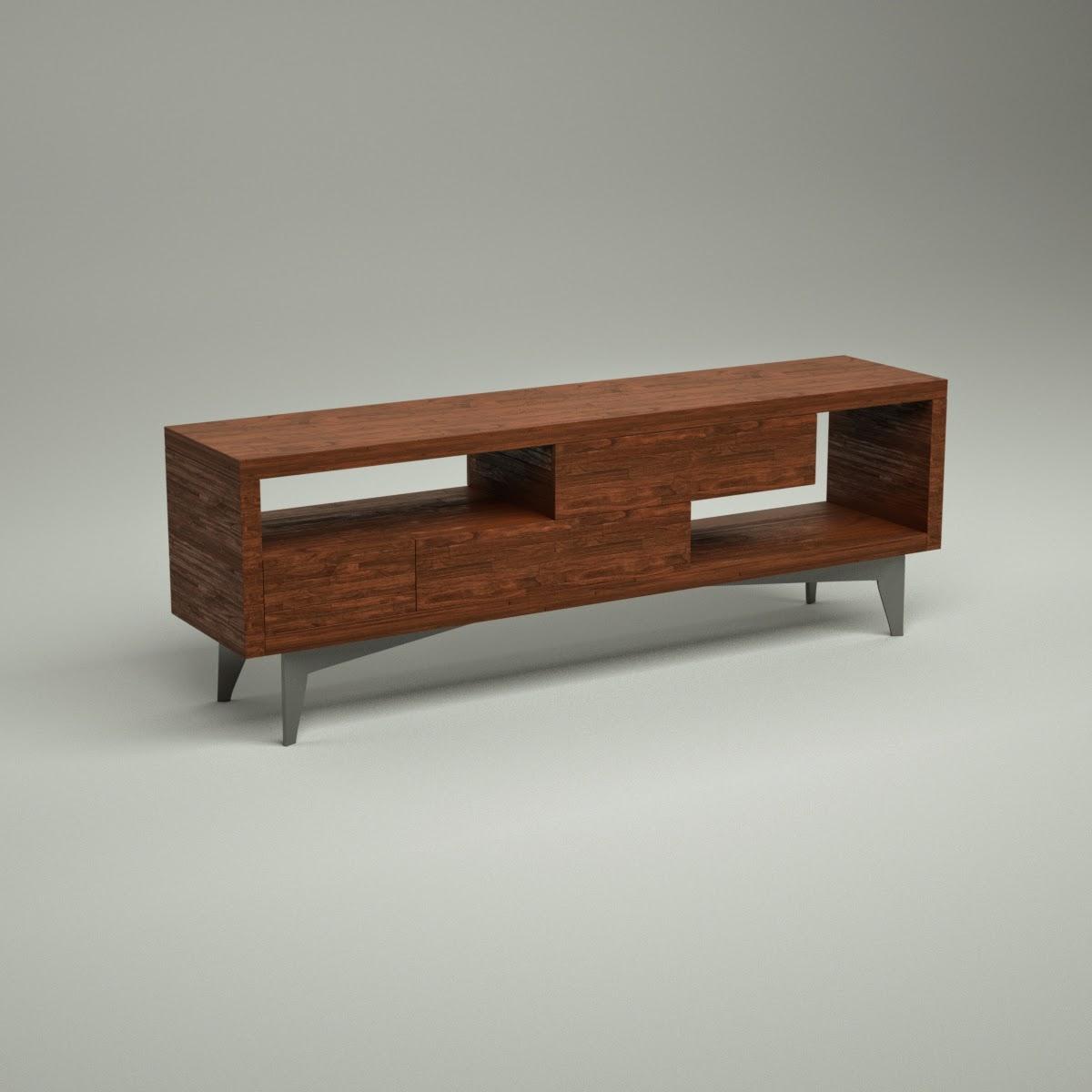 Tango Buffet Sideboard 3D Model Download fbx obj dxf blend