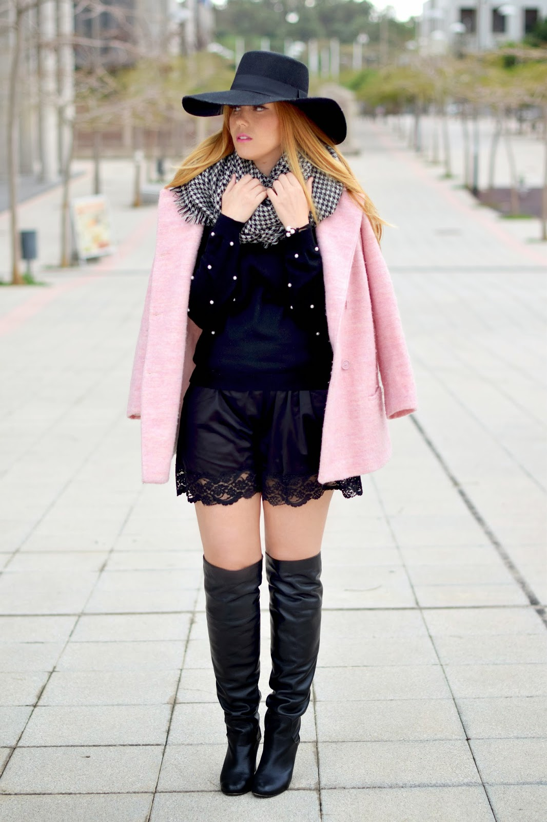 nery hdez, poppy lux, bisuteria la ola, candy coat, hat, pearls, lace shorts,