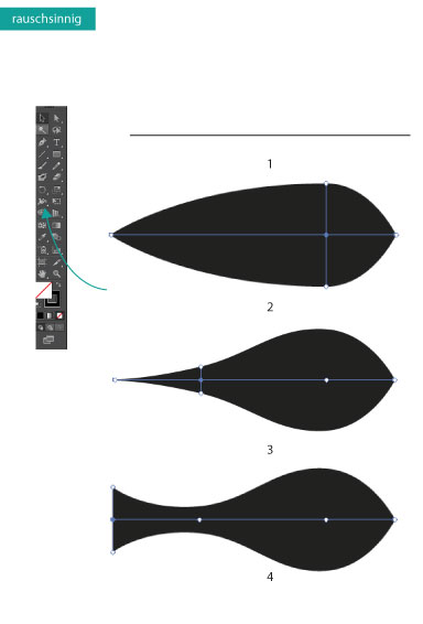 Breitenwerkzeug in Adobe Illustrato