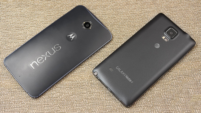 Google Nexus 6 vs Samsung Galaxy Note 4 - Video Comparison