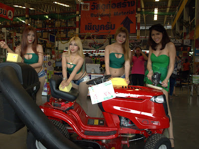 Buriram Female Models soapy hand wash Garden Tractor