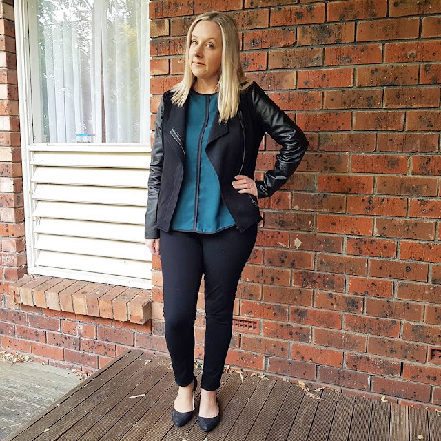 Target contrast top, katies jacket | Almost Posh
