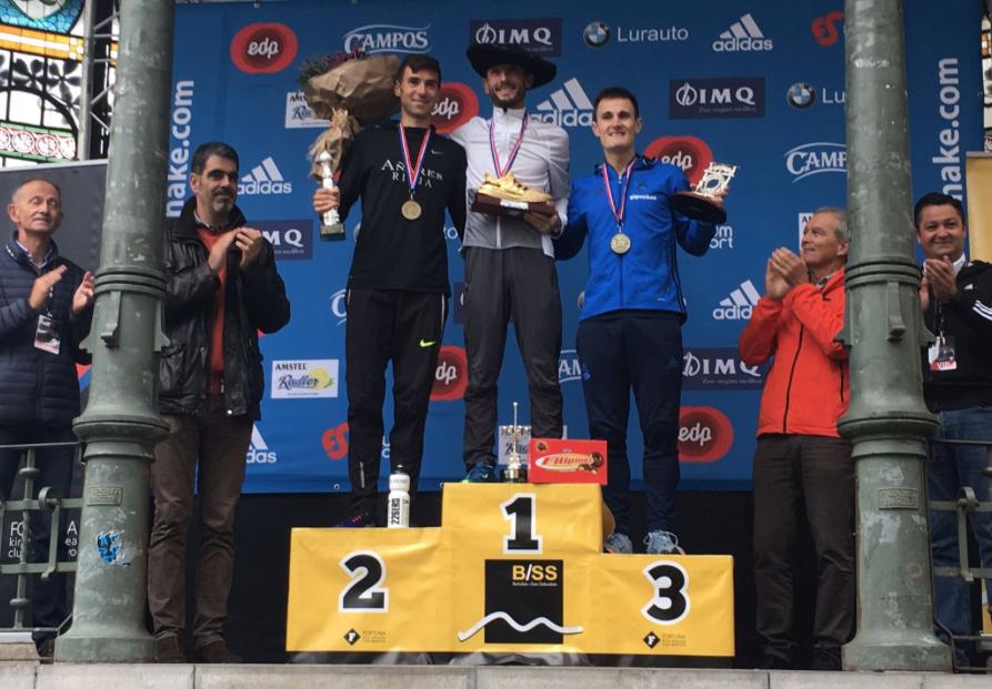 Podio Masculino Behobia -  San Sebastián 2017