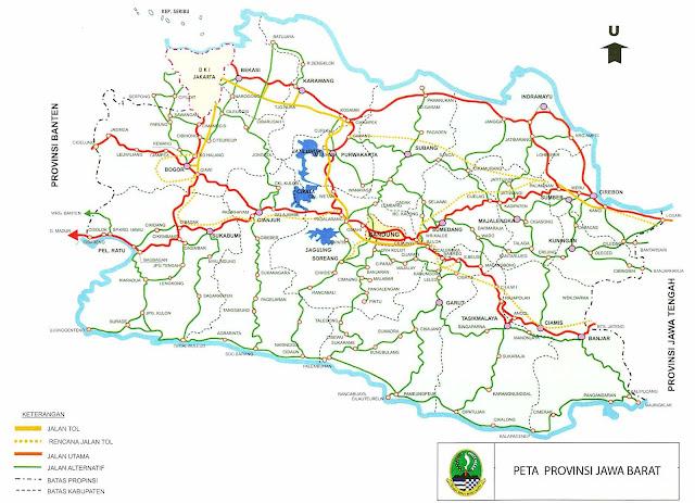 Peta Jawa Barat, Peta Jalan