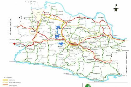 Peta Jawa Barat Lengkap Dengan Daftar 18 Kabupaten dan 9 Kota