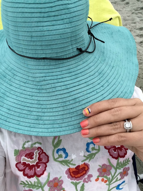 As I get older I realize I need to protect my face more than ever. In addition to sunscreen, I have recently started wearing floppy sun hats.