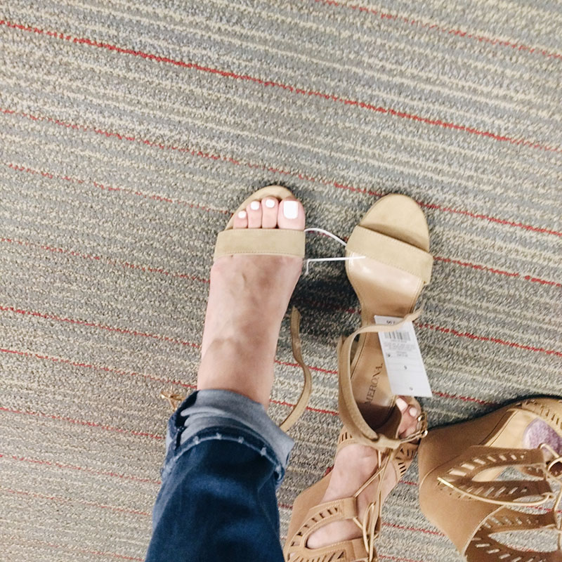 Target Lulu Block Heel Sandals Merona try on review