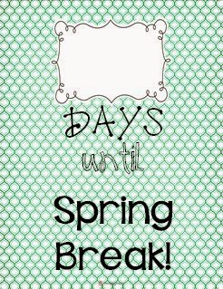 Spring Break Countdown---Crockett's Classroom